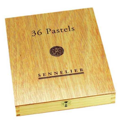 Cofanetto foderato in legno di lusso n132105coffretbois36pastelpmferme